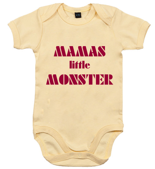 Baby Body mit Druck Mamas Little Monster