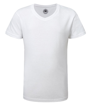 Mädchen V  Shirt Weiß | 140