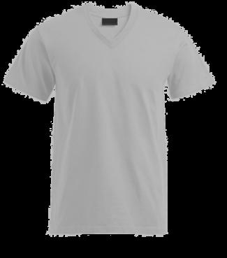 T-Shirt V Grau | L