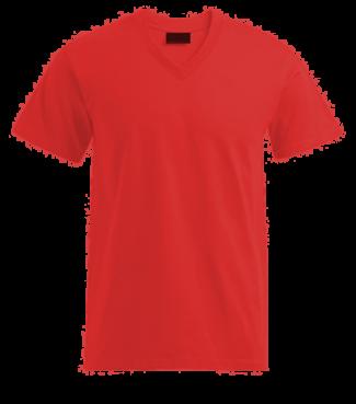 T-Shirt V Rot | L