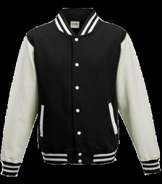 Kinder College Jacke Schwarz/Weiß | L