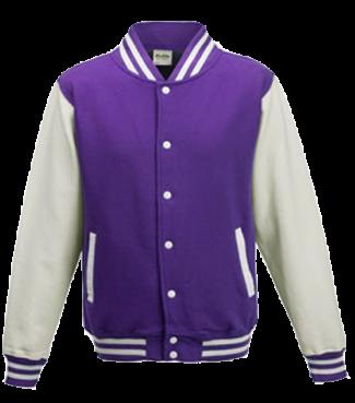 Kinder College Jacke Lila/Weiß | XS