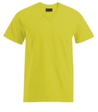 T-Shirt V Gelb | L