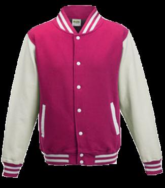 Kinder College Jacke Pink/Weiß | XL