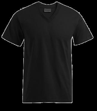 T-Shirt V Schwarz | M