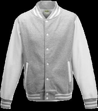 Kinder College Jacke Grau/Weiß | L