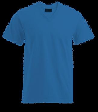 T-Shirt V Blau | L