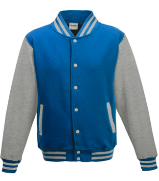Kinder College Jacke Blau/Grau | XL