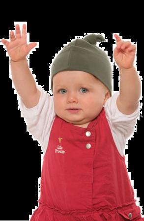 Babymütze mit Knoten