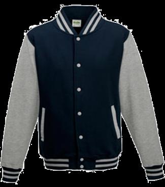 Kinder College Jacke Dunkelblau/Grau | XL