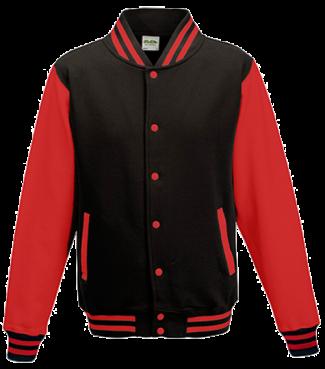 Kinder College Jacke Schwarz/Rot | L