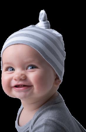 Babymütze mit Streifen