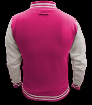 Kinder College Jacke Pink/Weiß | S