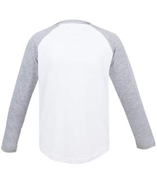 Langarm Baseball Shirt Weiß/Grau | 116