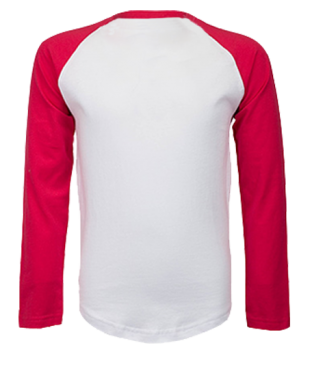 Langarm Baseball Shirt Weiß/Rot | 128