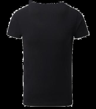 Mädchen V  Shirt Schwarz | 140