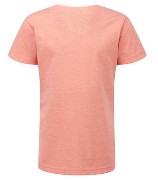 Mädchen V  Shirt Coral | 140