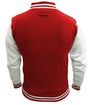 Kinder College Jacke Rot/Weiß | S