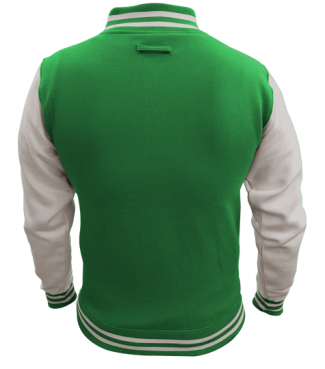 Kinder College Jacke Grün/Weiß | M